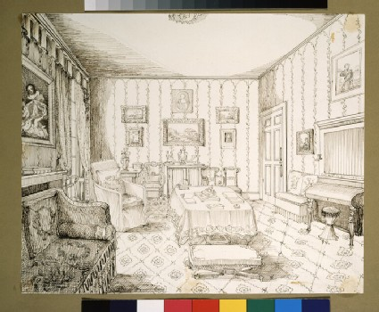 Drawing Room of 18 South Audley Street, London, 1843