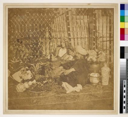 An Eastern scene: Sophia Ricketts, Lady Dalrymple, and an unidentified gentleman
