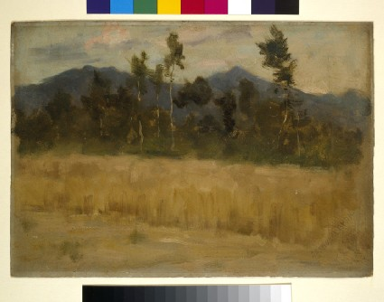 Landscape with Silver Birch and distant Mountains