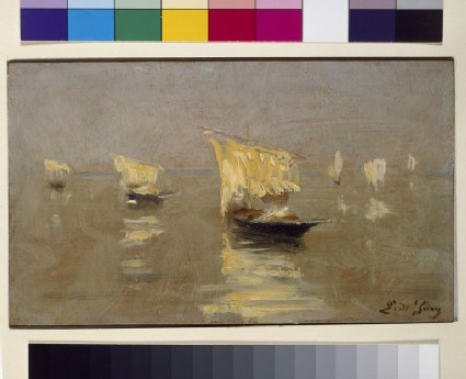 Boats in the Lagoon at Venice