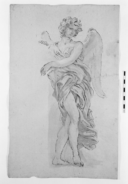 Recto: Standing Angel<br />Verso: Studies of a Woman facing left and of drapery