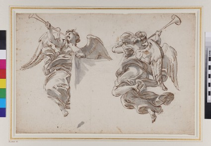 Two allegorical Figures of Fame