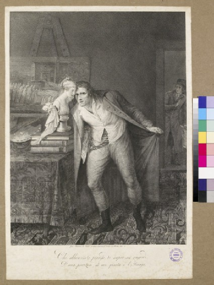 Painter bewailing the death of his daughter