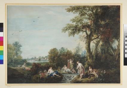 Landscape with Women bathing