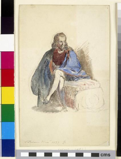 Samuel Palmer seated in Venetian Dress
