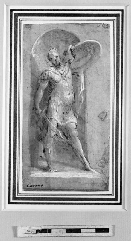 Statue of a Roman Soldier in a Niche