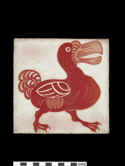 Tile with dodo walking to the right