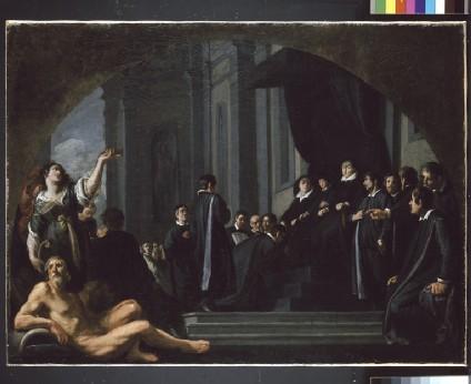 The Senators of Florence swearing Allegiance to Ferdinando II de' Medici