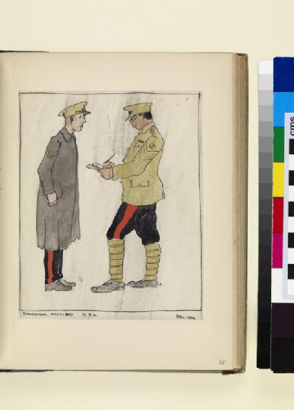 The Costumes and Uniforms of the British Army, 1914-1915: Divisional Artillery, R.F.A., December 1914