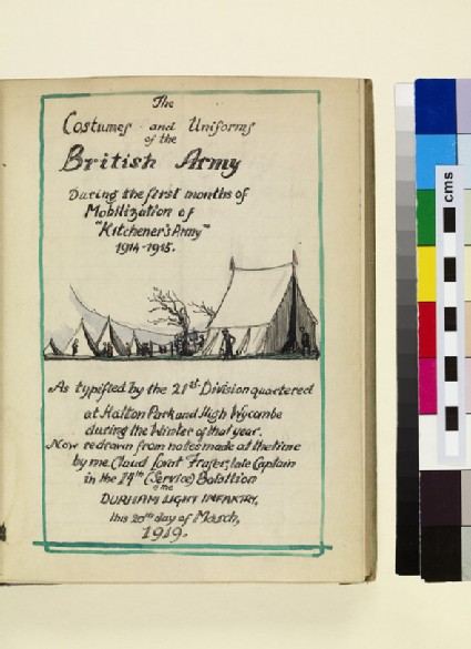 The Costumes and Uniforms of the British Army, 1914-1915: Title Page