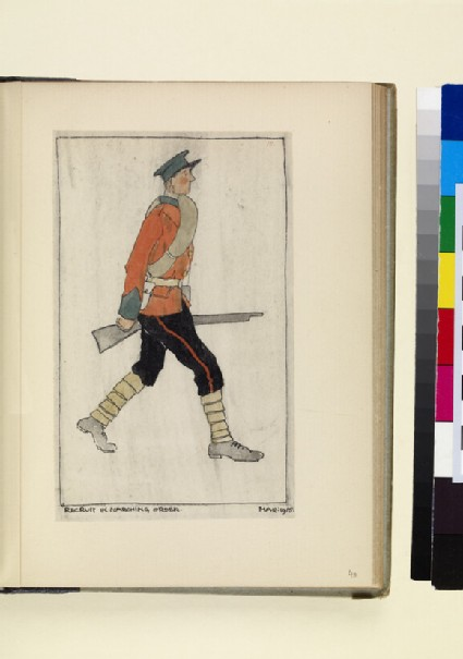 The Costumes and Uniforms of the British Army, 1914-1915: Recruit in Marching Order, March 1915