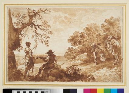 Pastoral Landscape with Figures