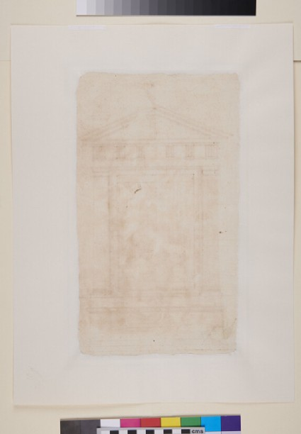 Design for a Frame with Pediment