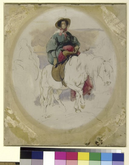 Queen Victoria on a highland Pony