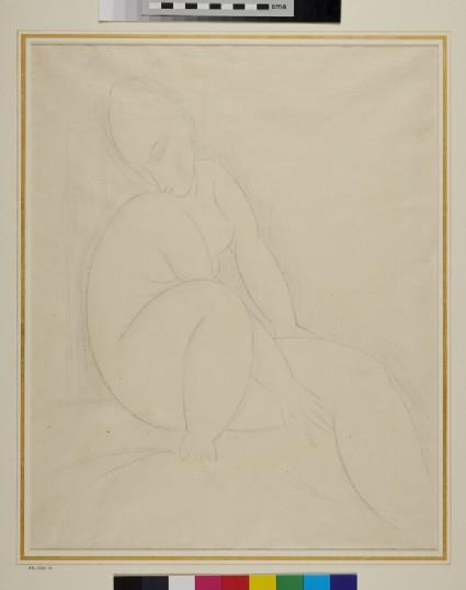 Seated female nude Figure