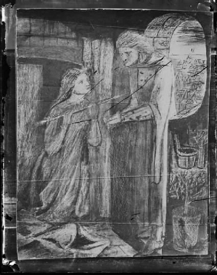 Glass plate negative of 'Clerk Saunders'