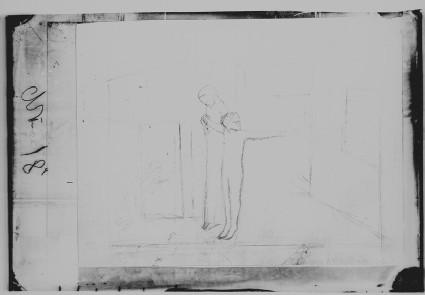 Glass plate negative of 'Sister Helen'