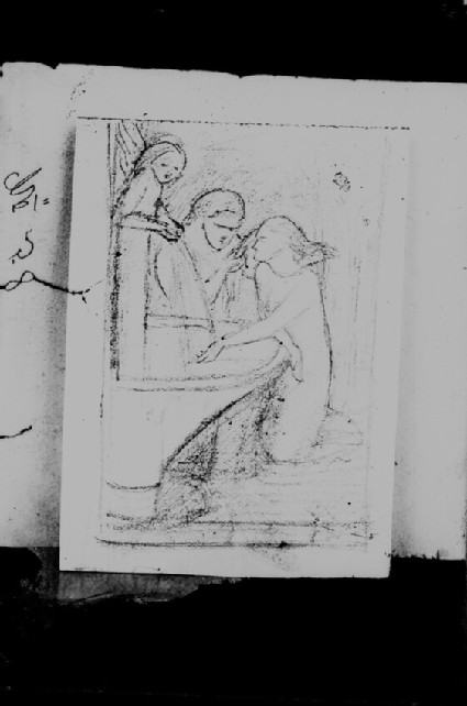 Glass plate negative of 'La Belle Dame Sans Merci'