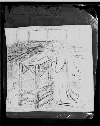 Glass plate negative of 'Study for the Nativity'