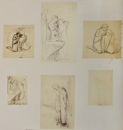 Studies for 'La Belle Dame Sans Merci'