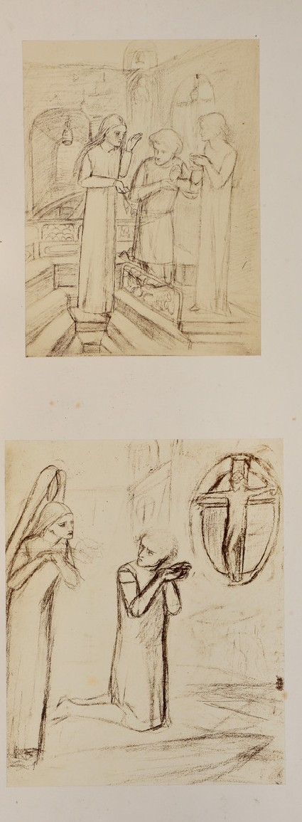 Two studies for 'Sir Galahad'