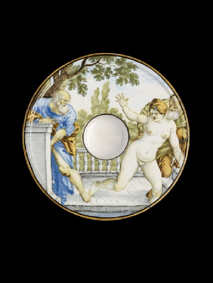 Saucer with Susanna and the Elders