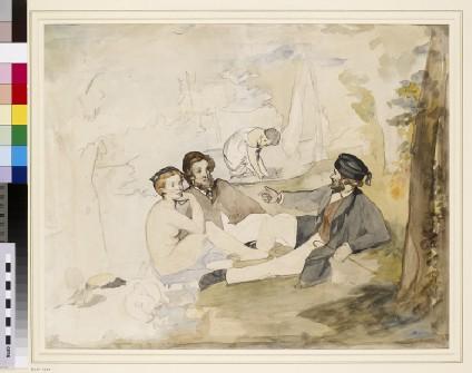 A picnic in a wood (Le Déjeuner sur l'herbe)