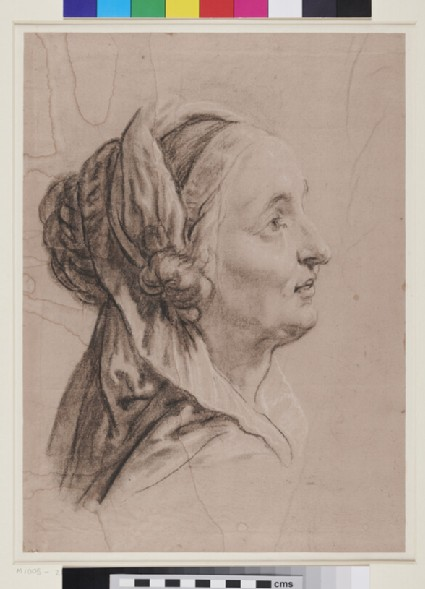 Head of a Woman with a Shawl