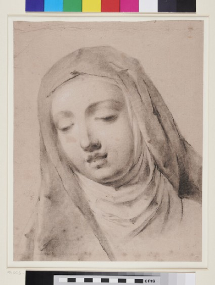 Head of a Nun or female saint