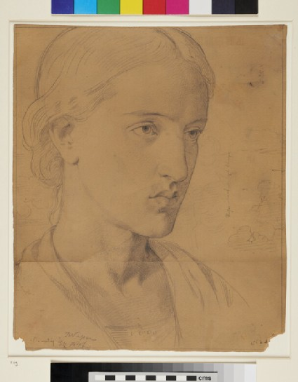 Portrait of a young Woman and Study of Clouds
