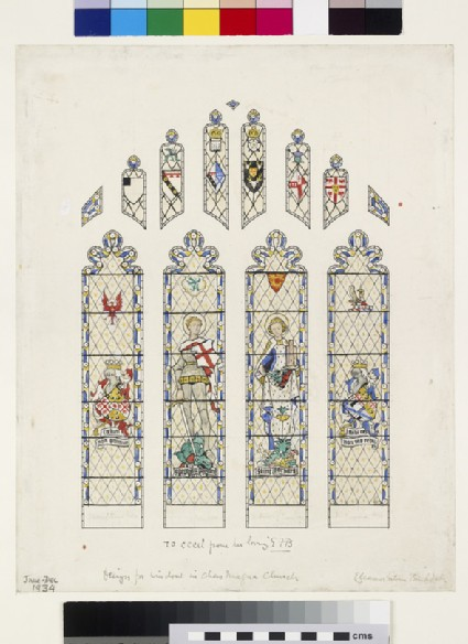 Design for a Window in Chew Magna Church