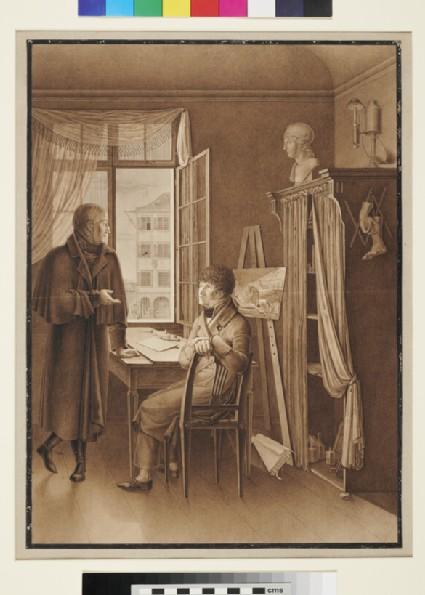 Self-portrait in the Studio of Georg Christoph Oberkogler