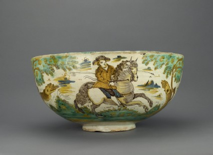 Large bowl, Bull-hunting scenes