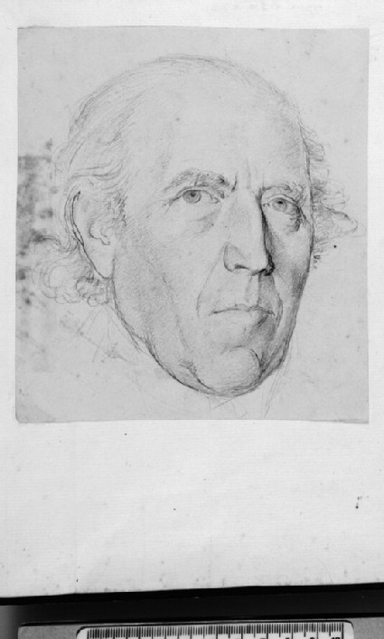 Recto: Portrait of an unknown Man <br />Verso: Torso and part of a Face of a nude male Model