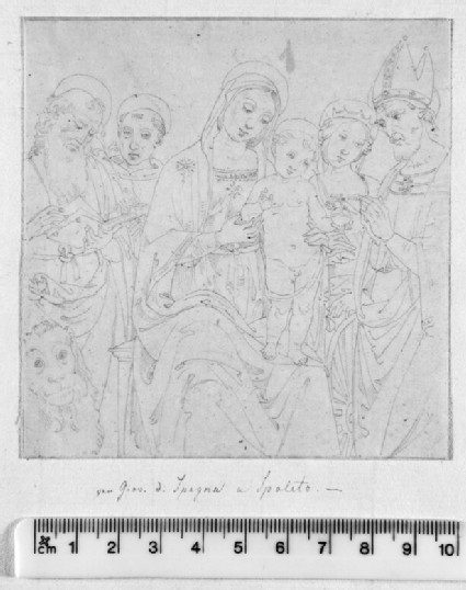 Study after Lo Spagna's Altarpiece, 'The Virgin and Child with Saints' in the Pinacoteca in Spoleto
