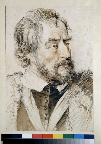Portrait of Thomas Howard, Earl of Arundel, bust directed to right, wearing a fur-trimmed coat and collar of the Order of the Garter