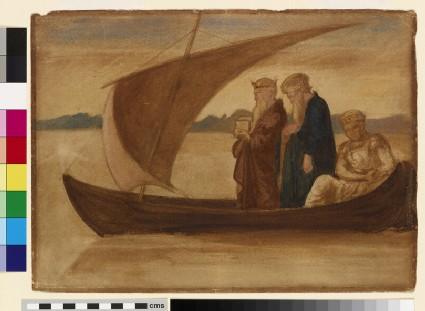 Three Magi in a Sailing Boat