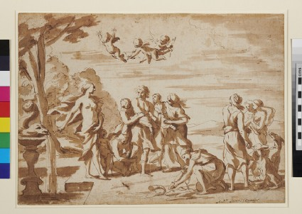 Venus and Adonis with attendants