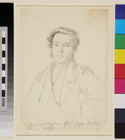 Portrait of Johann Conrad Bergmann, half-length portrait of a Man