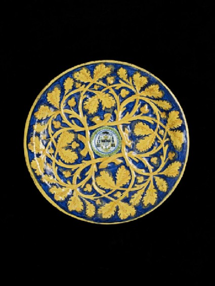 Plate with Cerquate and a shield of arms