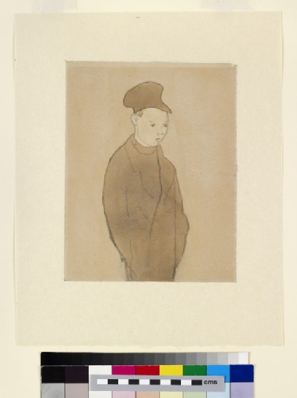 Boy with a blank expression