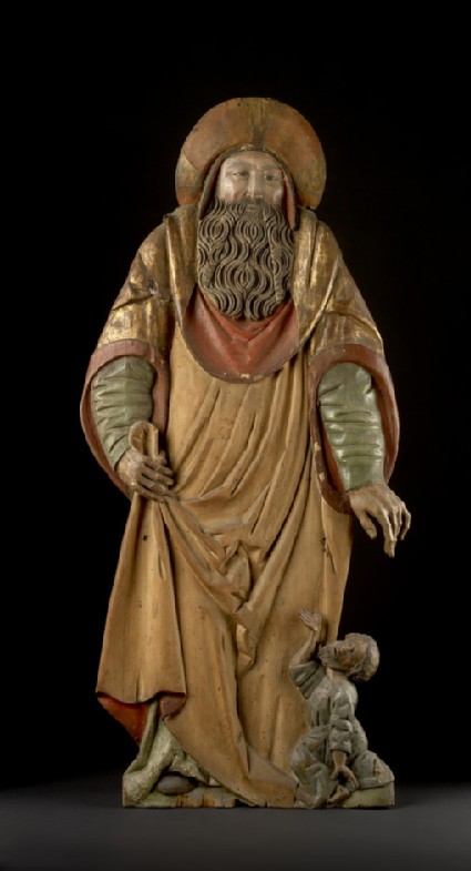 Figure of a pilgrim saint, probably St James the Greater