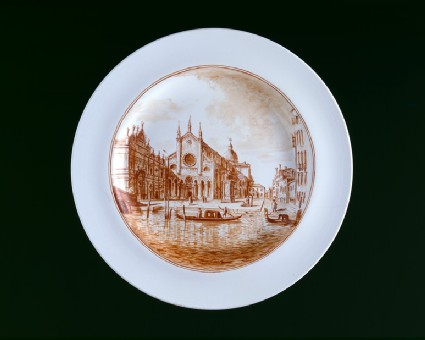 Plate with view of SS Giovanni e Paolo, Venice