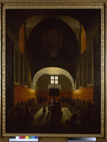 Interior of the Capuchin Monastery in Rome