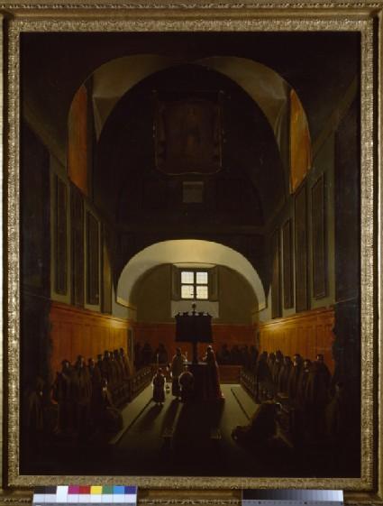 Interior of the Capuchin Monastery in Rome