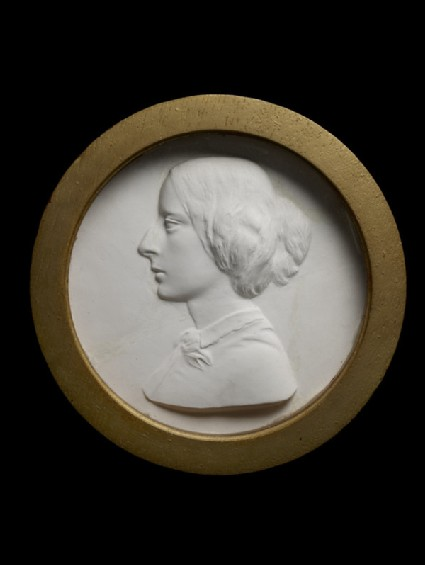 Medallion portrait of Mrs Coventry Patmore
