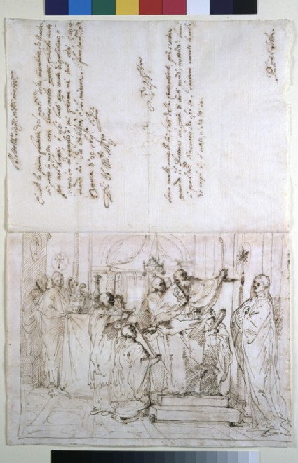 Study for the Consecration of a Church with a Letter to the Patron