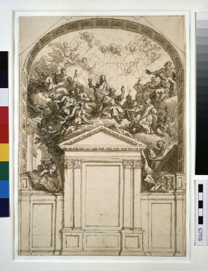 Presentation Design for the East Wall of the Chapel of All Soul's College, Oxford