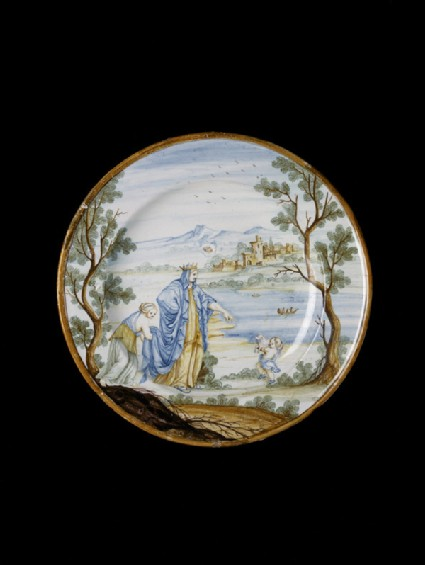 Plate with unidentified subject