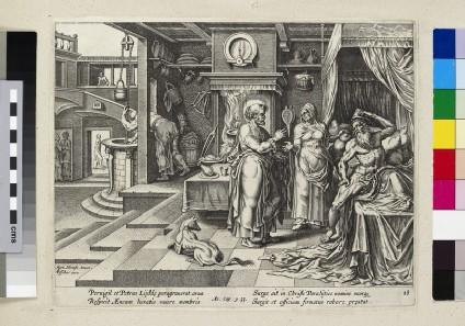 Saint Peter healing Aeneas at Lydda (Acts of Apostles 9:33)